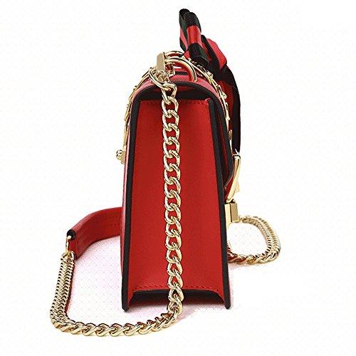 Bag Bow package Square Bag Summer Shoulder Bag Hand Female JIUTE Female Small Slung Bag Leather C6Swdq0q