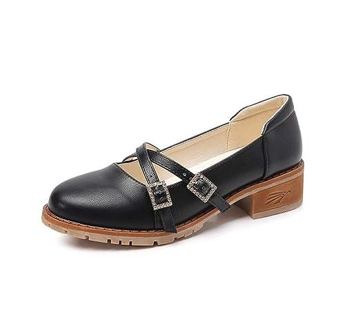 Mocasines para Mujer Otoño Zapatos Casuales Metal Diamante Hebilla de Gran tamaño Zapatos: Amazon.es: Zapatos y complementos