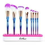 GooMart 2017 Super Soft 8PCS Cosmetic Makeup Brush Set with Silicone Makeup Brush Holder