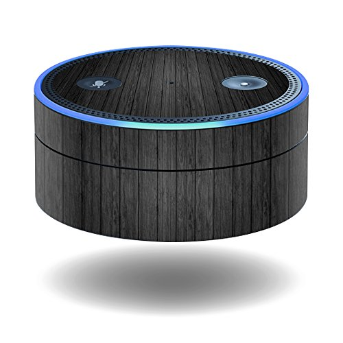 Price comparison product image MightySkins Protective Vinyl Skin Decal for Amazon Echo Dot (1st Generation) wrap cover sticker skins Black Wood