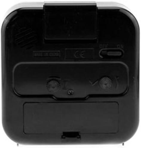 Bernie Gresham Hummingbird Hosta-Custom Square Black Alarm Clock Custom