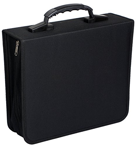 Portable CD DVD Wallet Case Binder Heavy Duty Disc Storage Bag Holder for Car,Home,Office,Travel,320 Capacity by Sun Cling