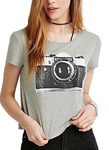 Enlishop Women Casual Sleeve Camera