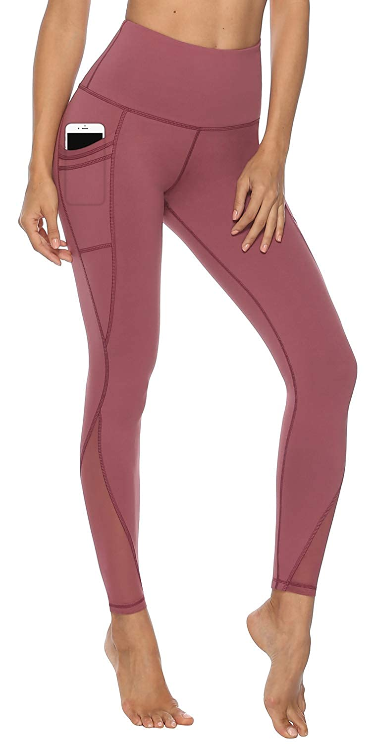26 inches High Waisted Yoga Pants,Squat Proof Workout Leggings with Pocket,Running Pants