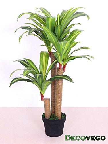 Drachenbaum Kunstpflanze Kunstbaum Künstliche Pflanze mit Topf 100cm Decovego