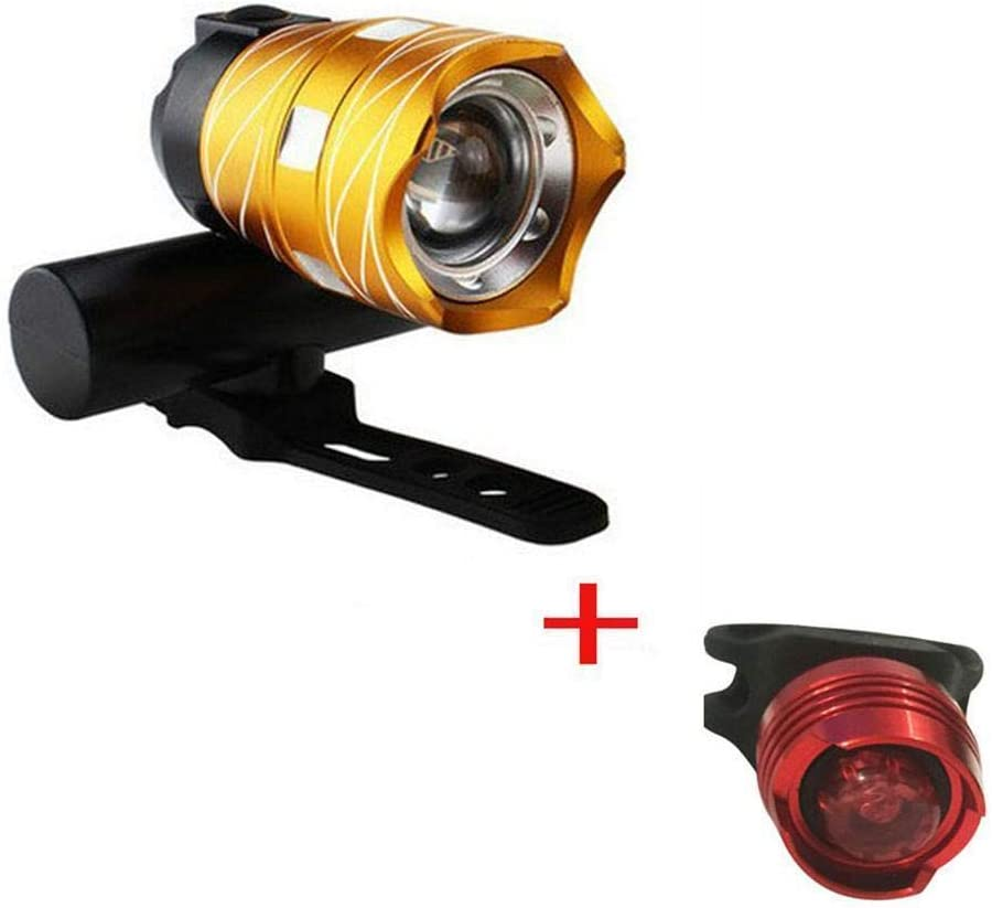 Rechargeable 1600LM XM-L T6 LED BIKE USB Front Lamp Highlight 3Modes Headlight E