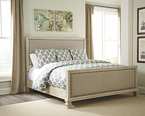 Ashley B693 Demarlos Bedroom Set In Home White Glove Delivery Included Queen Upholstered Bed