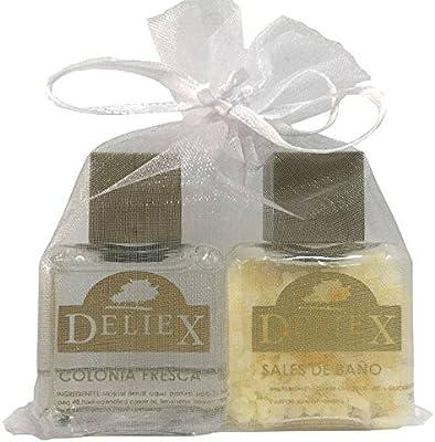 Detalle en bolsa de organza con sales de baño y colonia fresca unisex para regalar (Pack 24 ud): Amazon.es: Hogar