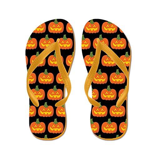 Cafepress Halloween - Flip Flops, Roliga Rem Sandaler, Strand Sandaler Apelsin