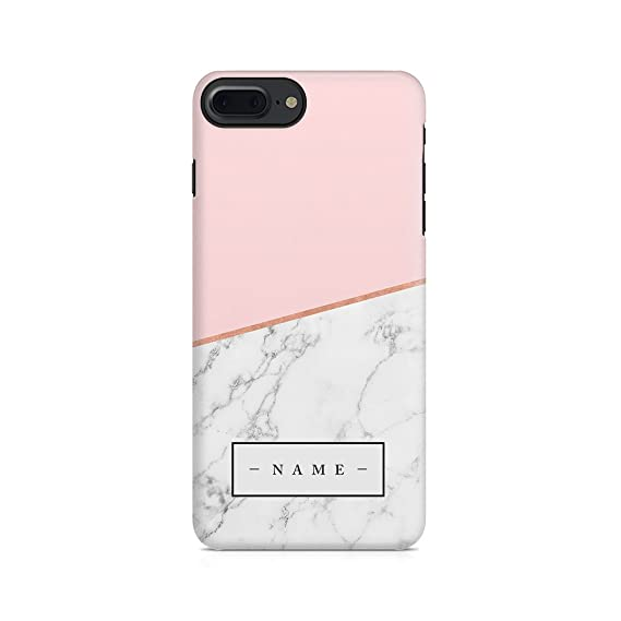timeless design 1c988 59c8e Amazon.com: Personalised Custom Initial Name Pink Marble Create Your ...