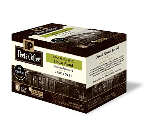 Peet's Coffee Decaf House Blend, Dark Roast, 10ct K-Cup Pack