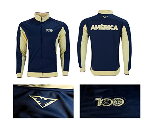 Club America Track Jacket Youth Boys Zip Front (YXL, Navy) (Club Kids America Jacket)