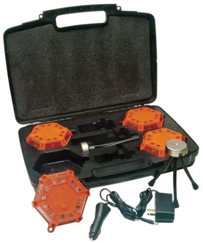 Aervoe 4-Pack Kit Super LED Road Flare (Red) (Handheld Red Flare)