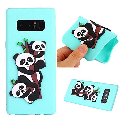 Funda para Samsung Galaxy Note 8 , IJIA Puro Verde Adorable Panda TPU Silicona Suave Cover Tapa Caso Parachoques Carcasa Cubierta Teléfono De Vuelta Shell Case para Samsung Galaxy Note8 (6.3) Green