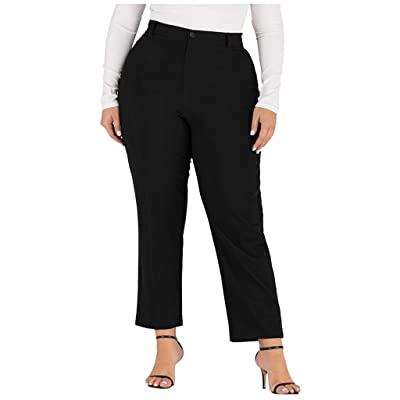 Sttech1 Women's Casual Plus-Size Super Stretch High Waisted Flare Yoga Pants Workout Casual Trousers: Clothing