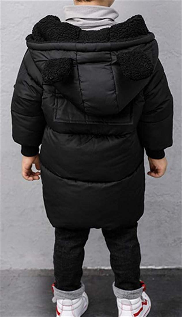 Sweatwater Boys Winter Down Jacket Quilted Thick Puffer Hooded Parka Coat