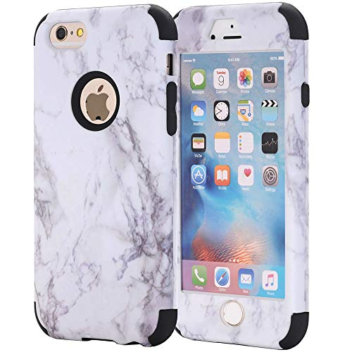 iPhone 7 Case, AOKER [Marble Design] Slim Dual Layer Anti-Scratch &Fingerprint ShockProof Clear Bumper Matte TPU Soft Rubber Silicone Protective Case Fit for Apple iPhone 7 4.7 inch (Black)