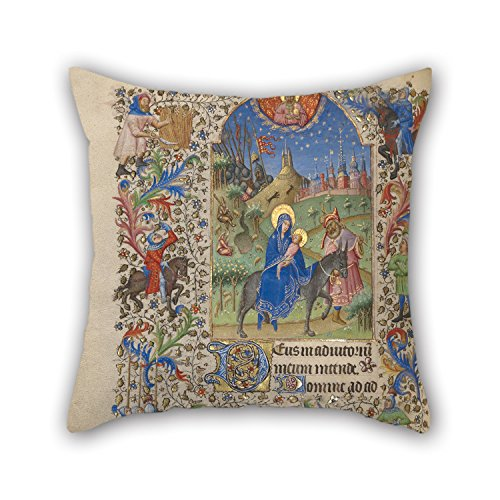 Uloveme Oil Painting Spitz Master (French, Active About 1415 - 1425) - The Flight Into Egypt Pillow Cases 16 X 16 Inches / 40 By 40 Cm Best Choice For Husband,son,couch,shop,christmas,coffee House
