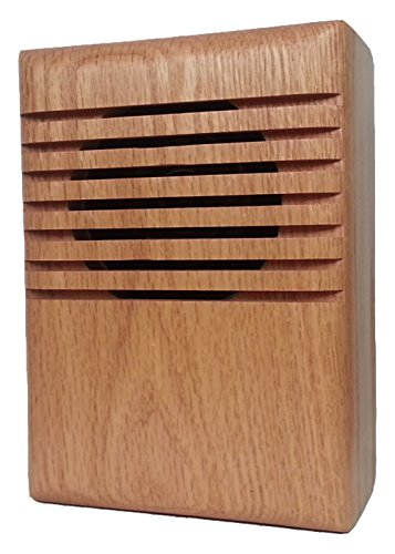 (YourBell MP3 Door Chime, Programmable DoorBell, Oak With Clear Coat. Made In The USA By BCS Ideas Corporation.)