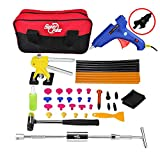 AUTOPDR 42Pcs DIY Car Door Dings Dent Hail Hammer Paintless Repair Removal Kits Glue Gun Stick Slide Hammer Lifter Puller Bag