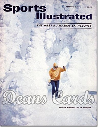 Sports Illustrated - With Label December 3 1962 - Montana Ski Resort (Magazine/Publication) (Has Address Label on Front) Dean's Cards 5 - EX (Ski Magazine Best Resorts)