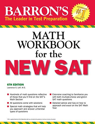 Pdf Teen Barron's Math Workbook for the NEW SAT, 6th Edition (Barron's Sat Math Workbook)