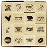 Hero Arts LP395 Kelly's Coffee and Donuts Craft Supplies, Fashion