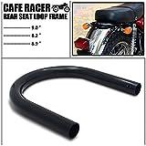 Senkauto Motorcycle Rear Seat Loop Frame Hoop Tracker End Flat Cafe Racer 175mm CB KZ XJ GS (175mm Flat, Black)