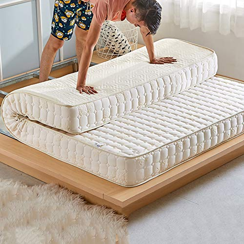 Ultra Soft Sponge Tatami Mattress, Thickening Keep Warm Futon Mattress Hypoallergenic Memory Foam Mattress Pad Living Room Home-white-10cm ()