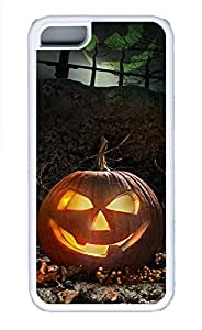 iPhone 5c Cases - Lovely Mobile Phone Two Pumpkin Village White Rubber Bumper Protecting Shell