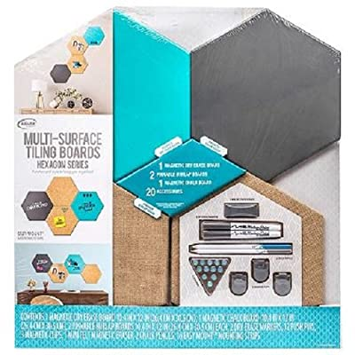 Multi-Surface Tiling Boards Hexagon Series Aqua: Office Products