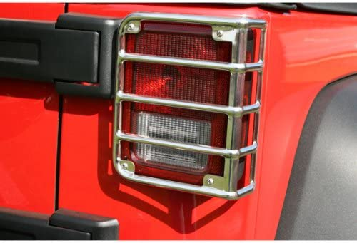 Rugged Ridge 11103.03 Stainless Rear Euro Taillight Guard Pair
