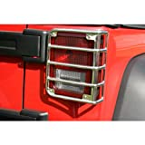 Rugged Ridge 11103.03 Stainless Rear Euro Taillight Guard - Pair