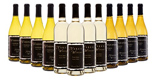 Naked Winery Crisp Fruit Forward White Wine Mixed Case, 12 x 750 mL