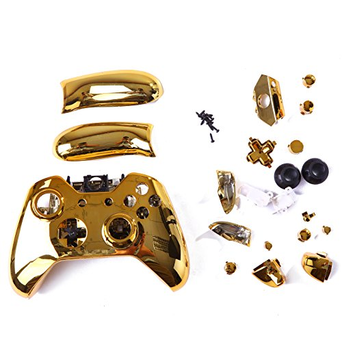 HDE-Xbox-One-Controller-Chrome-Custom-Case-Wireless-Gaming-Replacement-Cover-Kit