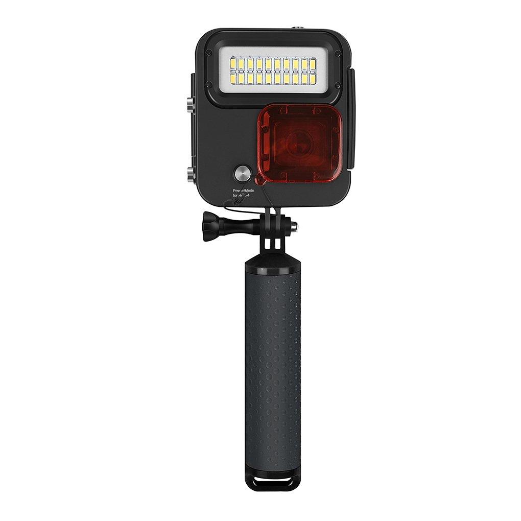 Shoot 多機能水中 40mm 写真撮影用ライト スポーツカメラ カンガルーダイビングランプ 防水ケース GOPRO Hero 3+ 4 5 6用   B07HL3KMP9