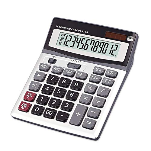 Calculator Desktop, 12-Digit Standard Function Dual Power Multi-Functional Big Button for Office Or Students Use by Calculator