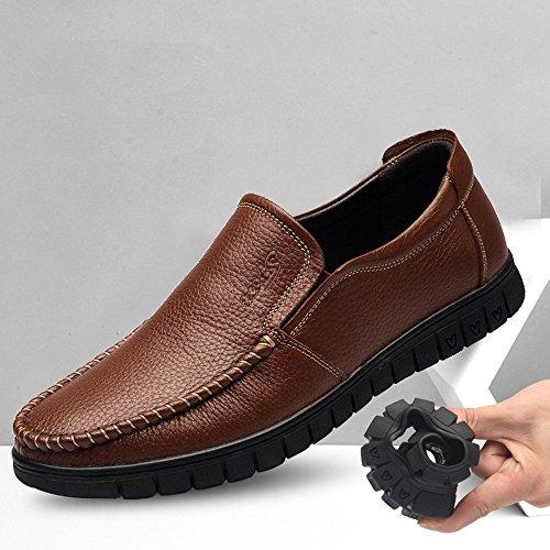 39 Primavera Soft Estate Formale EU Large Outsoles Warm Size Deck Dimensione On Loafer Marrone Slip Oxfords Shoes Color BN Uomo 2018 1UWdq1