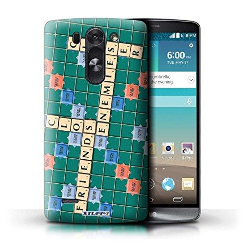 Kobalt® Imprimé Etui / Coque pour LG G3 S (Mini)/D722 / Ennemis Proximité conception / Série Mots de Scrabble