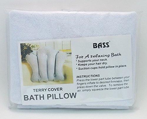 terrycloth bath pillow