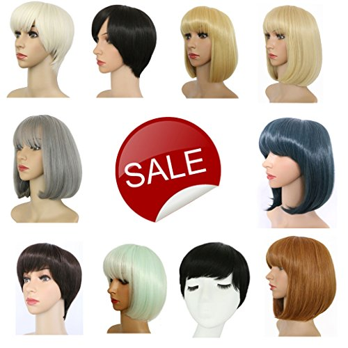 Haironline Synthetic Straight Short Hair Bob Natural Wigs COSPLAY Wig for Women Natural As Real (Long Ginger Wig)