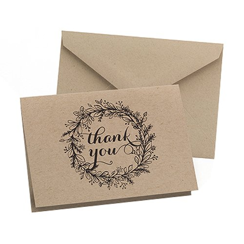 Hortense B  Hewitt 50 Count Krafty Thank You Cards