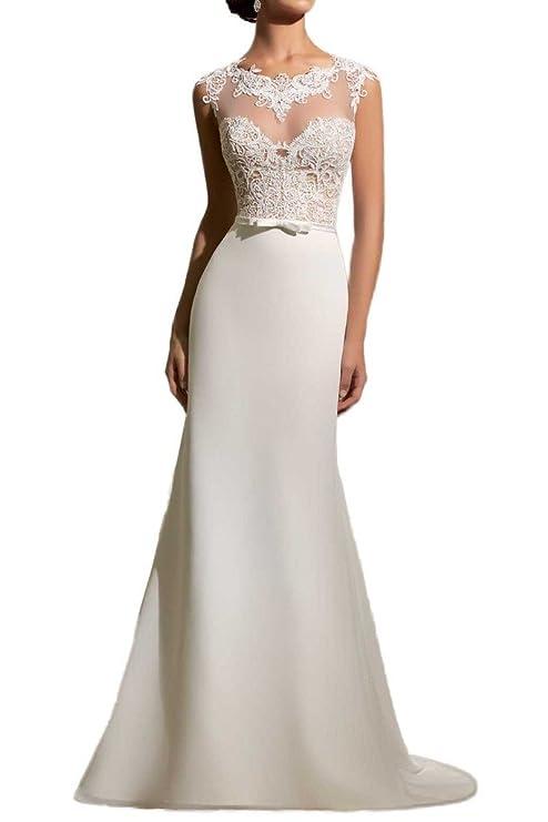 Milano Bride Elegant Elfenbein Spitze Figurbetont Hochzeitskleider ...