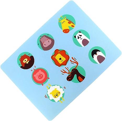#4 DIYARTS Tapis de Table en Silicone pour Enfants Motif de Bande Dessin/ée Antid/érapante Tapis de Table Tapis de Table R/ésistant /à la Chaleur et Imperm/éable pour Enfants en Bas /âge