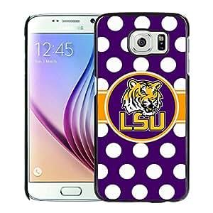 Southeastern Conference SEC Football LSU Tigers 01 Black Fashion Customize Design Samsung Galaxy S6 G9200 Phone Case