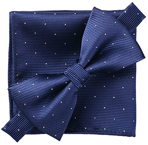 Flairs New York Little Gentleman's Kids Bow Tie (Prussian Blue [Glitter Dots]) ()