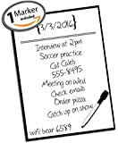 """Daily Note Planner ● Daily Planner ● To Do List ● Dry Erase Planner ● Vinyl Decal Sticker ● Agenda Productivity Tool ● Use w/ Dry Erase & Liquid Chalk Markers (1 Included) ● 14"""" x 10"""" Inches"""