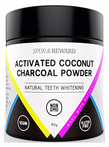 Organic Activated Charcoal Teeth Whitening Powder 90 Grams, Natural Toothpaste From Coconuts, Vegan, Chemical Free, Get Stronger Healthier Whiter Teeth, Anti-Bacterial, No Scent or Taste 3.17 oz
