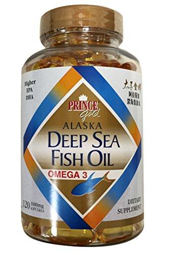 Prince Gold Alaska Deep Sea Fish Oil Omega 3 /Higher EPA DHA Dietary Supplement 120 Soft Gels Review
