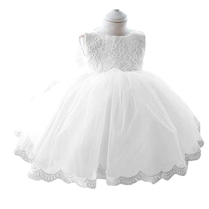 Amazon white baby girl baptism dress flower girl dress clothing topmaker white baby girl baptism dress flower girl dress 5 mightylinksfo